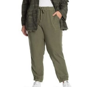 Sanctuary Tencel Green Victory Joggers Pull-on 1X